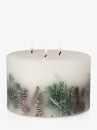 John Lewis & Partners Frosted Spruce Inclusion 3 Wick Scented Candle, 3kg