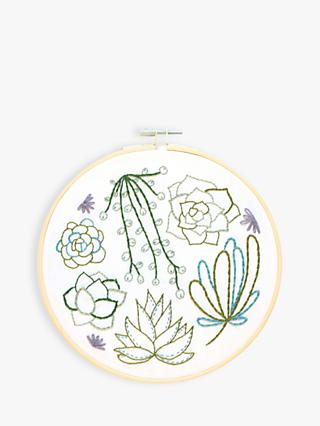 Hawthorn Handmade Succulent Embroidery Kit