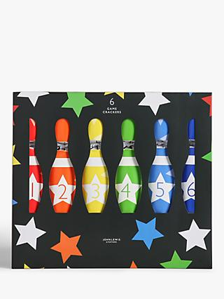 John Lewis & Partners Santa Bowling Game Christmas Crackers, Pack of 6, Multi