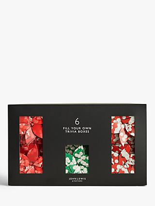 John Lewis & Partners Art of Japan Fill Your Own Trivia Boxes, Pack of 6, Red / Green