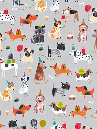 Paper Salad Party Dogs Wrapping Paper, 4m