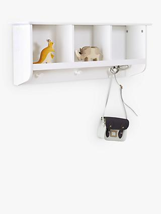 Great Little Trading Co Pigeonhole Wall Shelves and Hooks, White