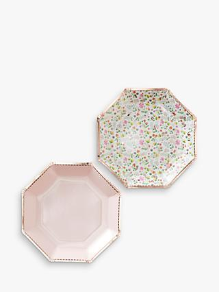 Ginger Ray Ditsy Floral & Dotty Paper Plates, Pack of 8