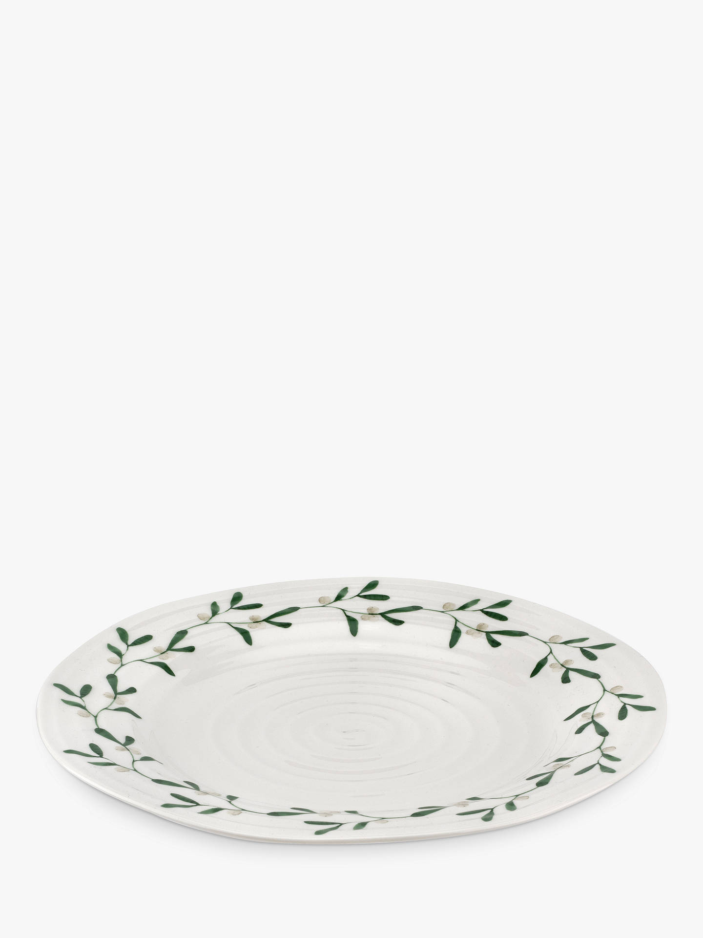 Buy Sophie Conran for Portmeirion Mistletoe Dinner Plate, 28cm, White/Multi Online at johnlewis.com