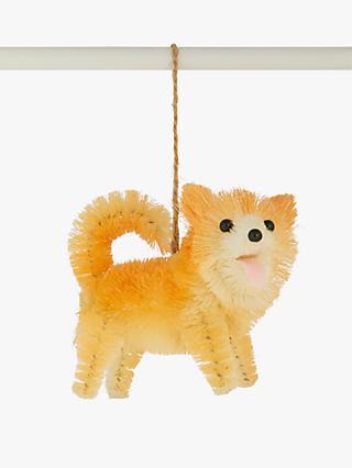 John Lewis & Partners Art of Japan Shiba Inu Tree Decoration, Orange