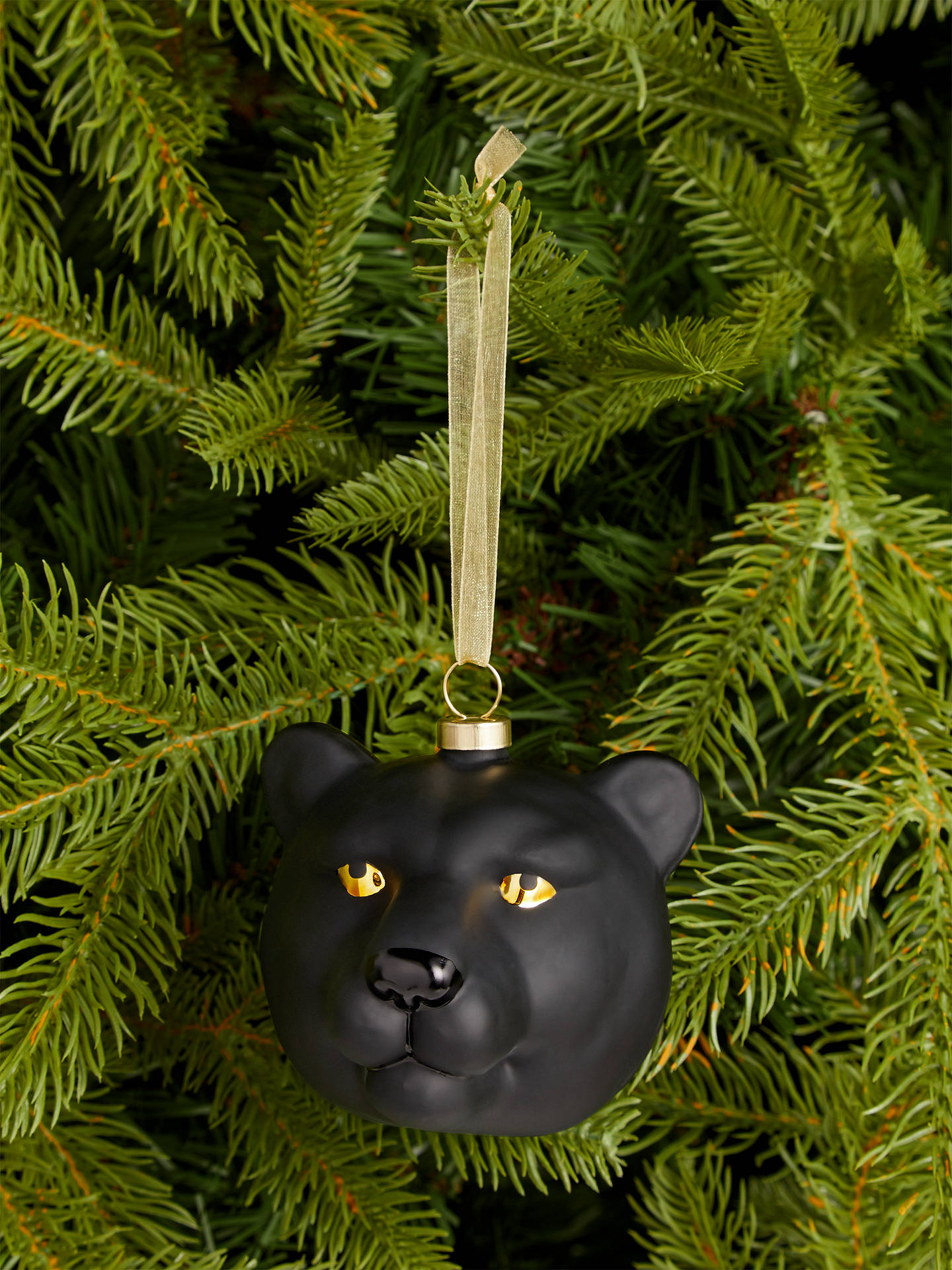 Buy John Lewis & Partners Art Nouveau Panther Bauble, Black Online at johnlewis.com