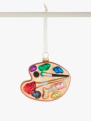 John Lewis & Partners Pop Art Rainbow Paint Palette Bauble, Multi