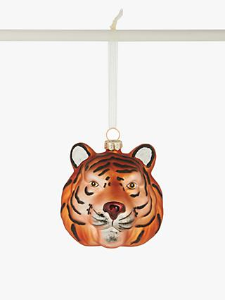 John Lewis & Partners Post Impressionism Tiger Head Bauble, Gold