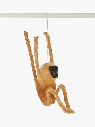 John Lewis & Partners Post Impressionism Sisal and String Monkey Tree Decoration