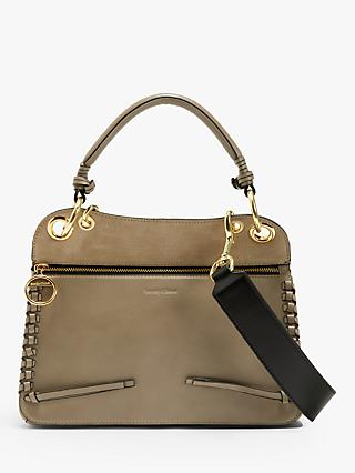 See By Chloé Tilda Large Suede Leather Top Handle Bag