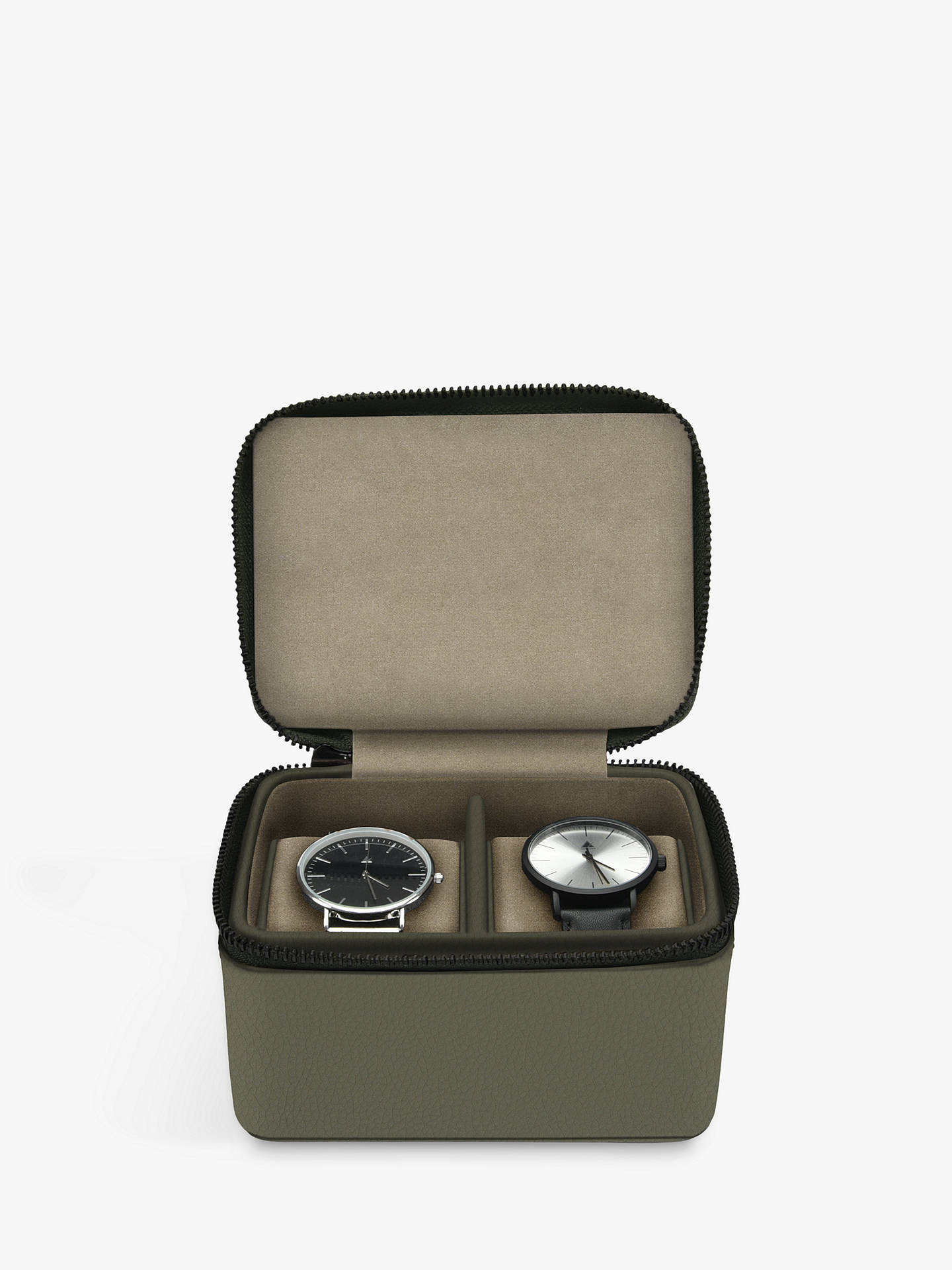 Buy Stackers Double Watch Box, Olive Online at johnlewis.com
