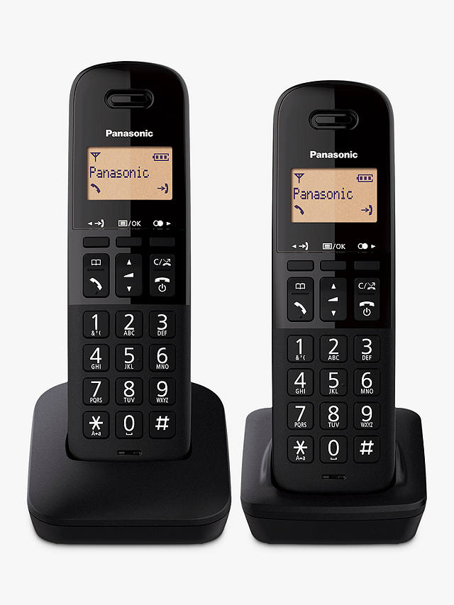 Buy Panasonic KX-TGB612EB Digital Cordless Telephone with Nuisance Call Block, Twin DECT Online at johnlewis.com