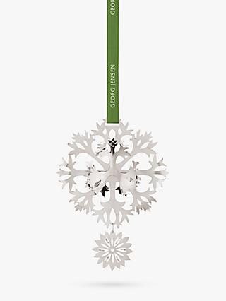 Georg Jensen Christmas Flower Mobile Decoration, Palladium