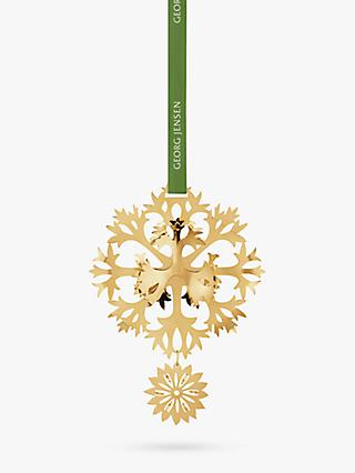 Georg Jensen Christmas Flower Mobile Decoration, 18 Karat Gold