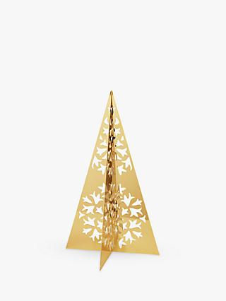 Georg Jensen Ice Flower Tree Christmas Decoration, Large, 18 Karat Gold