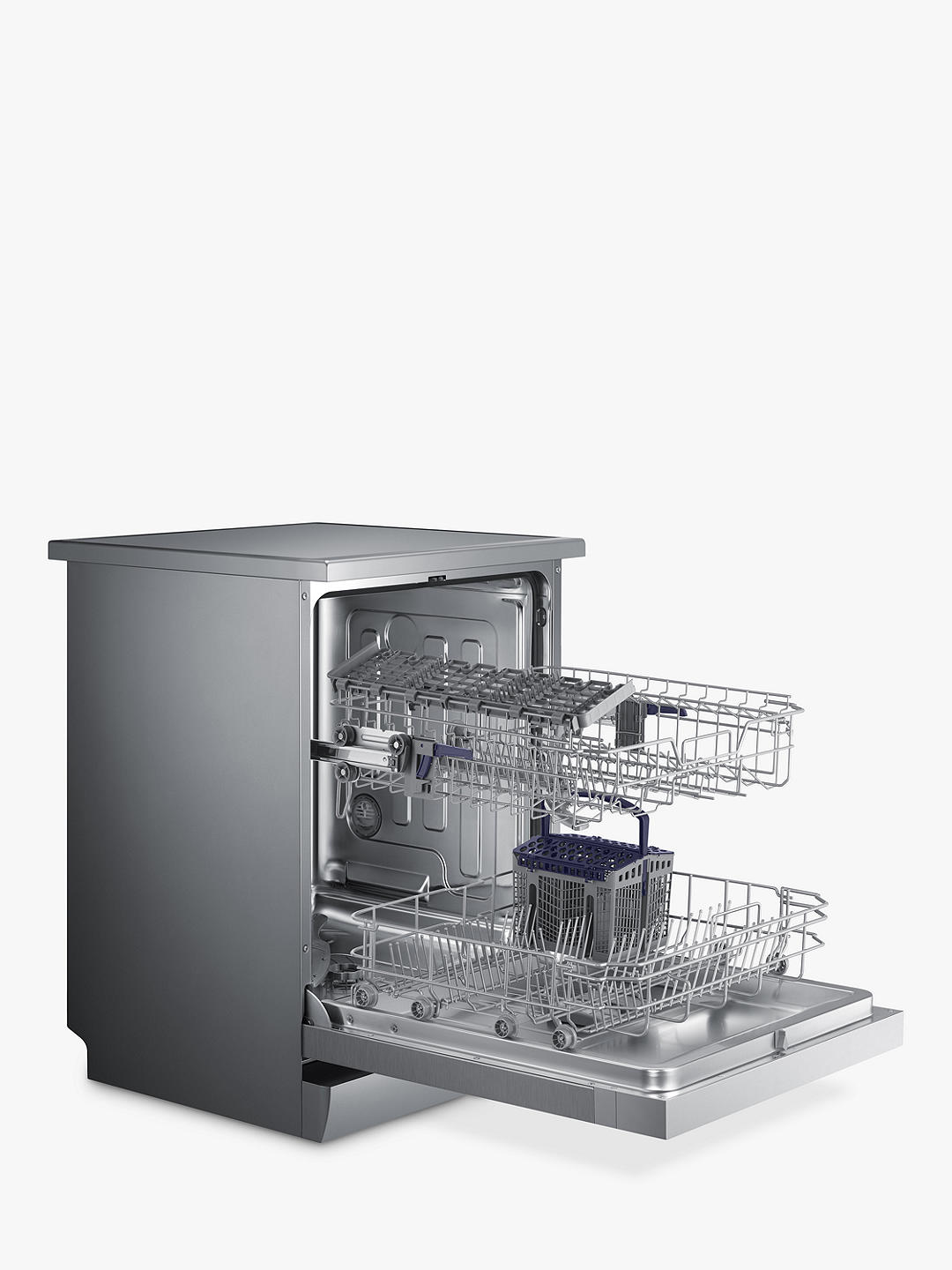 Buy Samsung DW60M5050FS/EU Freestanding Dishwasher, A+ Energy Rated, Silver Online at johnlewis.com