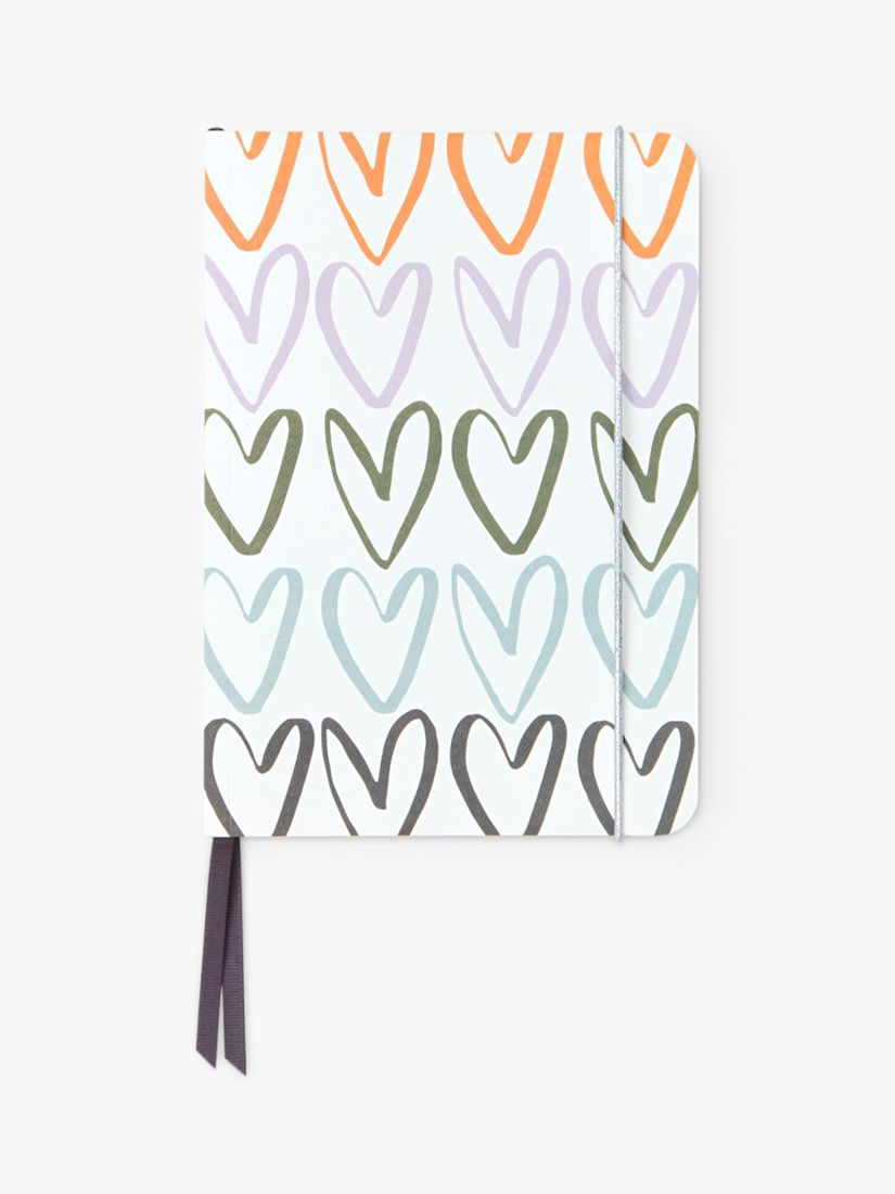 Caroline Gardner A5 Hearts Rainbow Notebook