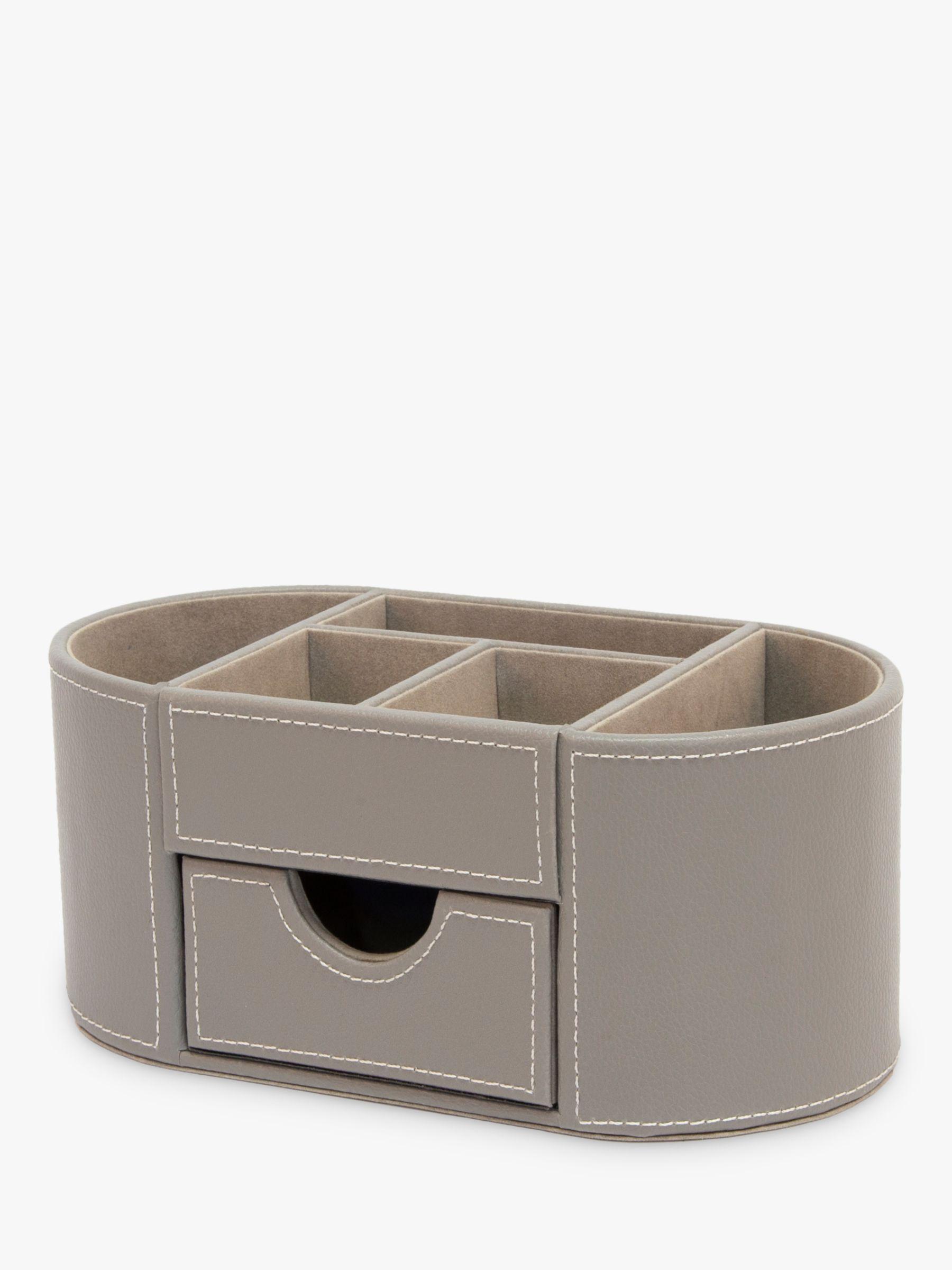 Osco Faux Leather Desk Organiser