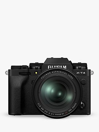 "Fujifilm X-T4 Compact System Camera with XF 16-80mm IS Lens, 4K Ultra HD, 26.1MP, Wi-Fi, Bluetooth, OLED EVF, 3"" LCD Touch Screen"