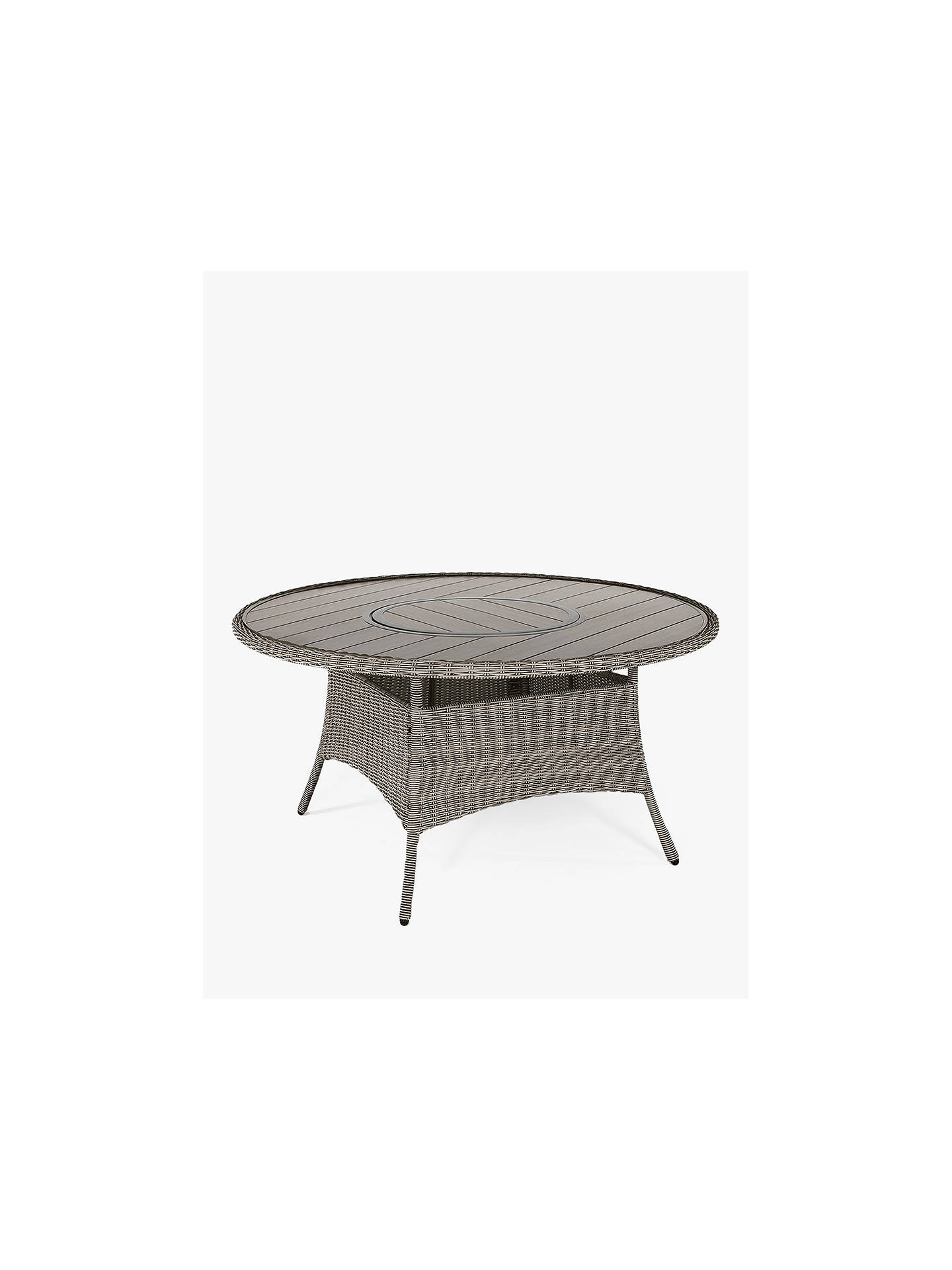 Buy KETTLER Palma 6-Seater Round Garden Dining Table & Chairs Set, Rattan Online at johnlewis.com