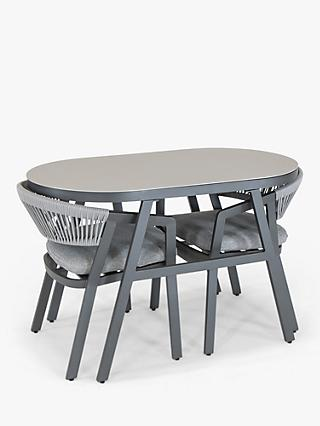 KETTLER Cassis 2-Seater Garden Bistro Table & Chairs Set, Grey