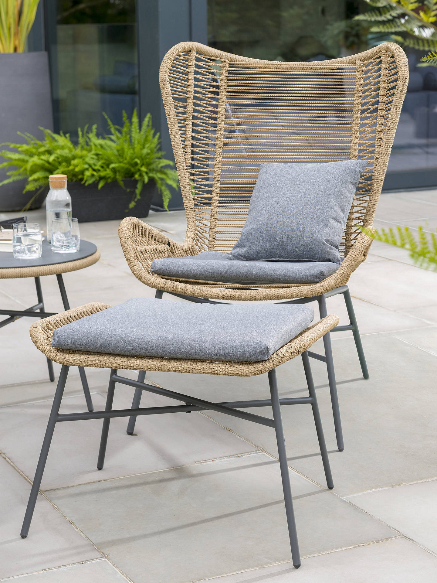 Buy KETTLER Lyon 2-Seater Garden Lounging Side Table & Chairs Set, Natural Online at johnlewis.com