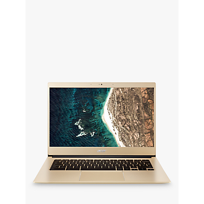 Image of Acer Chromebook 514 Laptop, Intel Pentium Processor, 4GB RAM, 128GB eMMC, 14 Full HD, Gold