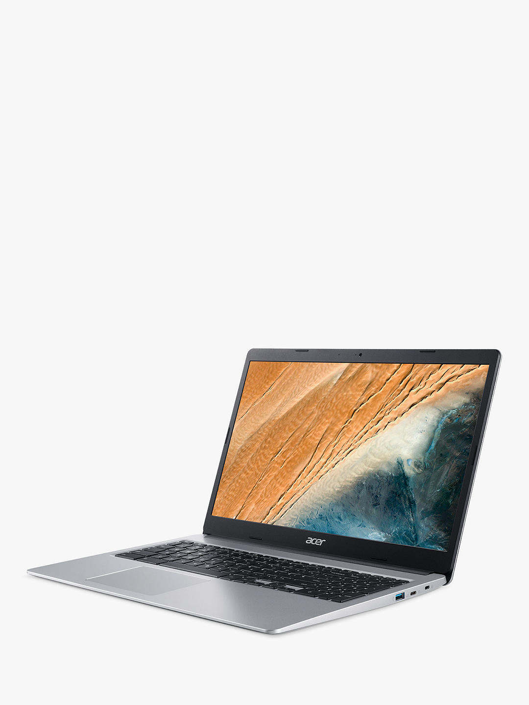 "Buy Acer 315 Chromebook Laptop, Intel Pentium Processor, 4GB RAM, 64GB eMMC, 15.6"" Full HD Touchscreen, Silver Online at johnlewis.com"
