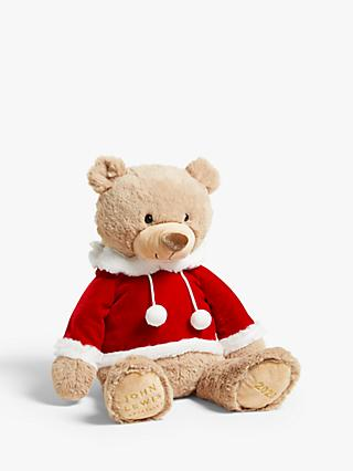 John Lewis & Partners Pop Art Christmas 2020 Lewis Bear in Hoodie