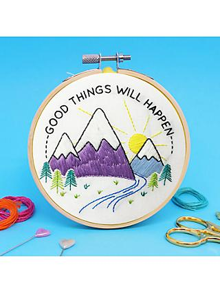 The Make Arcade Good Things Embroidery Hoop Kit