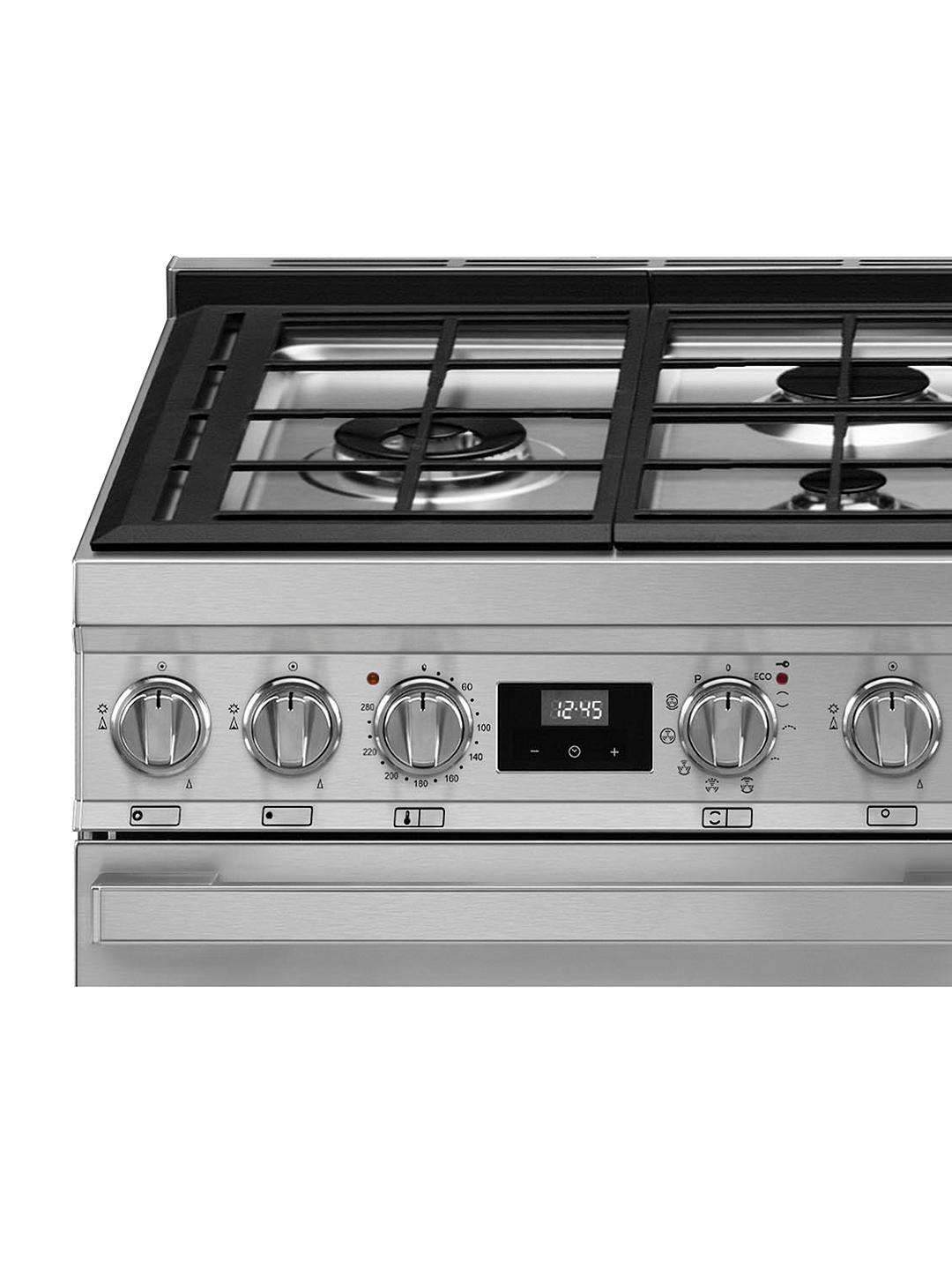 Buy Smeg Portofino CPF120IGMP 120cm Dual Fuel Range Cooker, A+/A Energy Rating, Stainless Steel Online at johnlewis.com