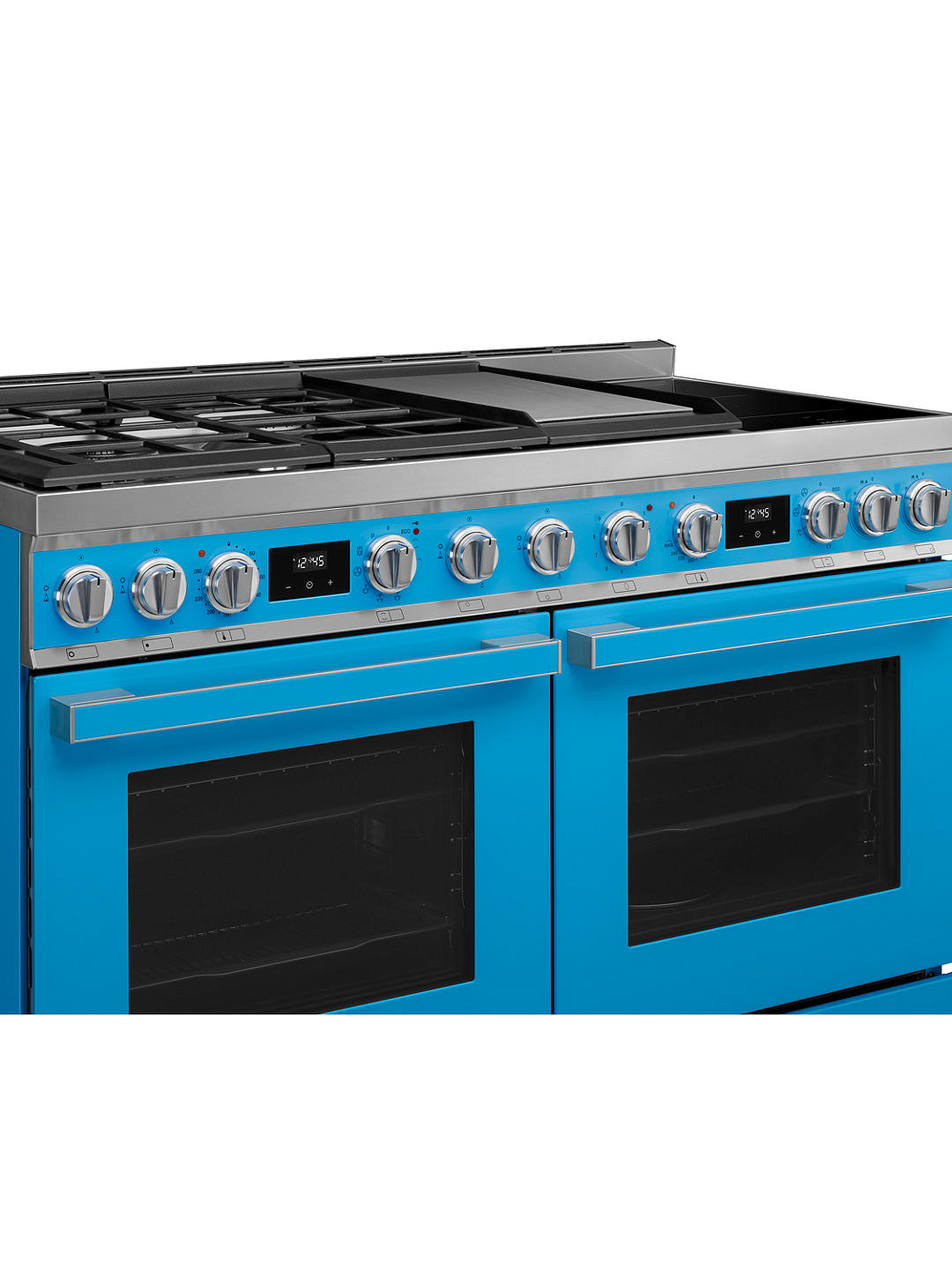 Buy Smeg Portofino CPF120IGMP 120cm Dual Fuel Range Cooker, A+/A Energy Rating, Turquoise Online at johnlewis.com