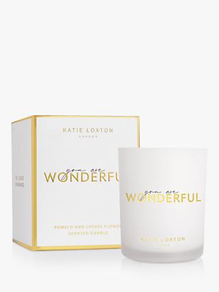 Katie Loxton You Are Wonderful Scented Candle, 160g