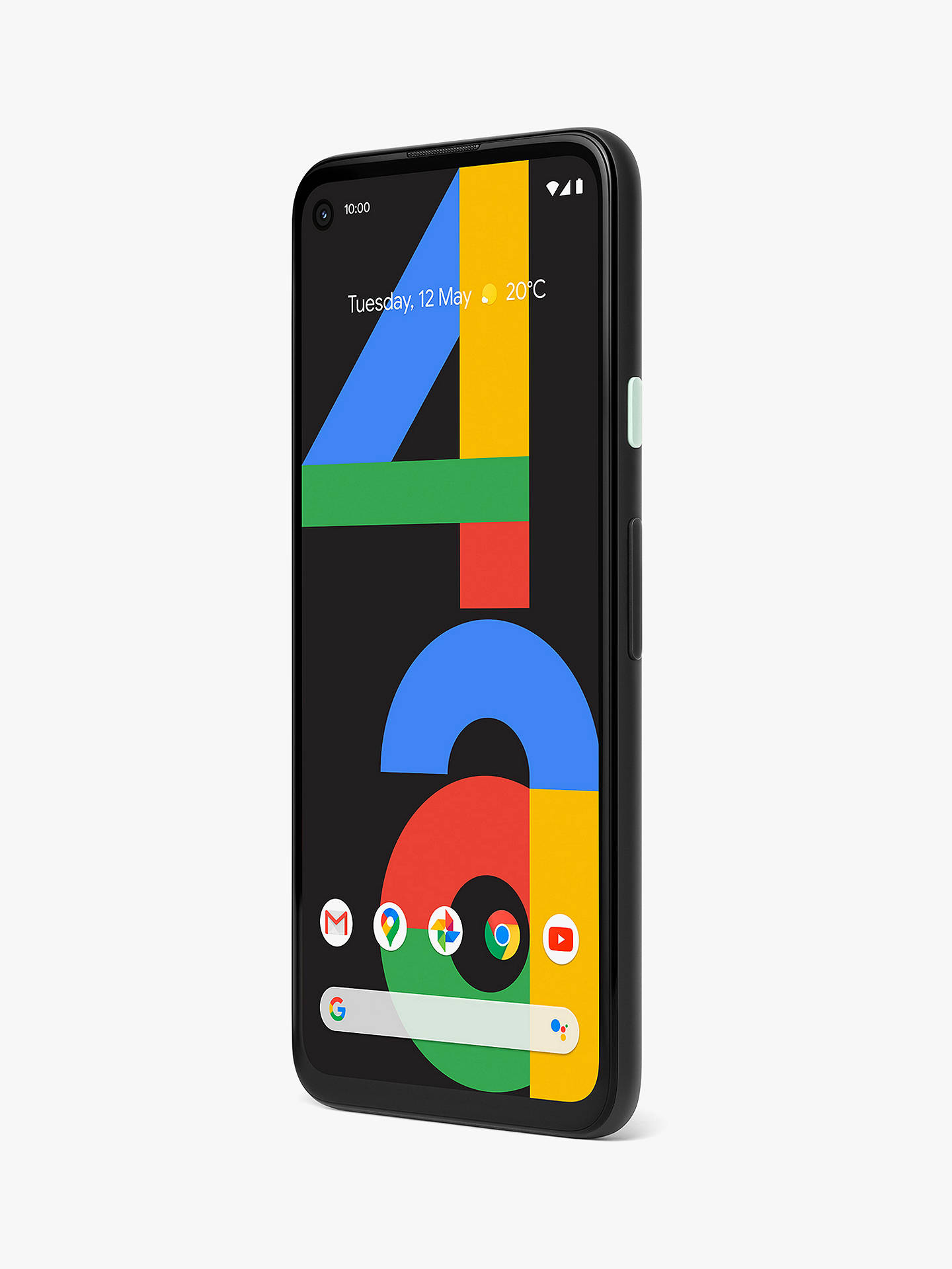 "Buy Google Pixel 4a Smartphone, Android, 6GB RAM, 5.81"", 4G LTE, SIM Free, 128GB, Just Black Online at johnlewis.com"