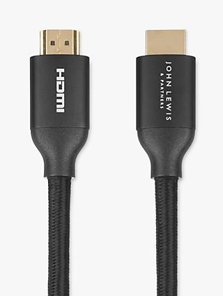 John Lewis & Partners 8K HDMI Cable, 1.5m, Black