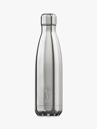 Chilly's Stainless Steel Vacuum Insulated Leak-Proof Drinks Bottle, 500ml, Silver