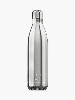 Chilly's Stainless Steel Vacuum Insulated Leak-Proof Drinks Bottle, 750ml, Silver