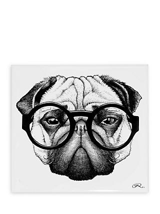 Rory Dobner Percy Pug Decorative Tile