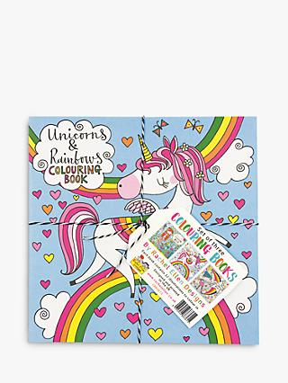 Rachel Ellen Unicorns, Under the Sea & Girls Rule Colouring Books