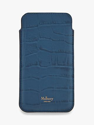 Mulberry Croc Look Leather Card Slip iPhone 6 6S 7 8 Case and Card Slip
