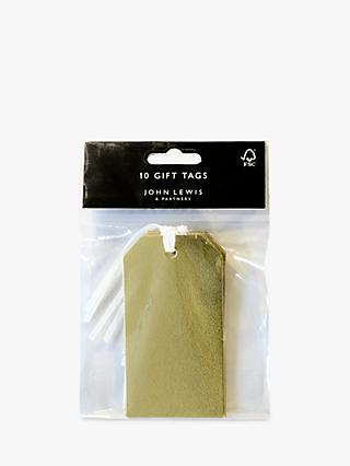John Lewis & Partners Textured Gift Tags, Pack of 10