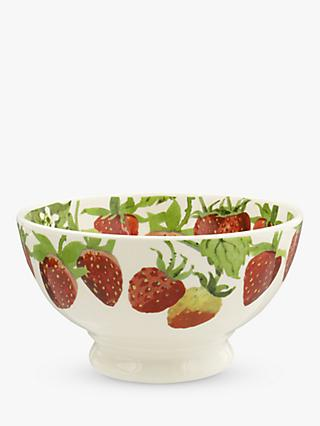 Emma Bridgewater Strawberry French Bowl, 13.9cm, White/Red