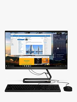 "Lenovo IdeaCentre 3 F0EU001YUK All-in-One Desktop PC, Intel Core i3 Processor, 8GB RAM, 1TB HDD, 23.8"" Full HD, Black"