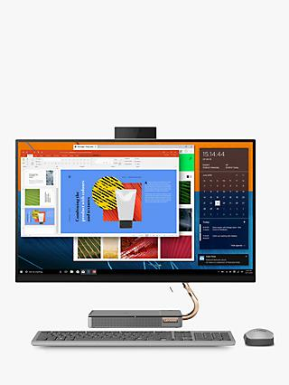 "Lenovo IdeaCentre 5 All-in-One Desktop PC, Intel Core i5 Processor, 8GB RAM, 1TB HDD + 256GB SSD, 27"" Quad HD, Black"