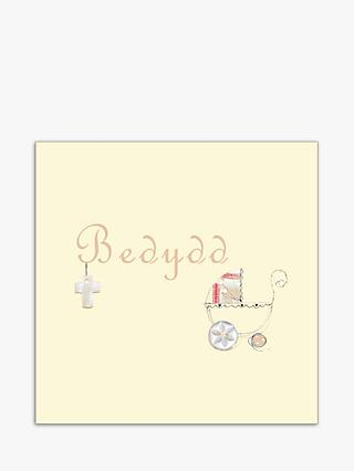 Laura Sherratt Designs Pram Baptism Welsh Language Card