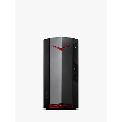 Acer N50-610 Desktop PC, Intel Core i7 Processor, 16GB RAM, 2TB HDD + 256GB SSD, GeForce RTX 2060, Black