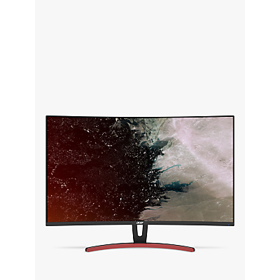 Image of Acer ED323QURAbidpx Quad HD Curved Monitor, 31.5, Black/Red