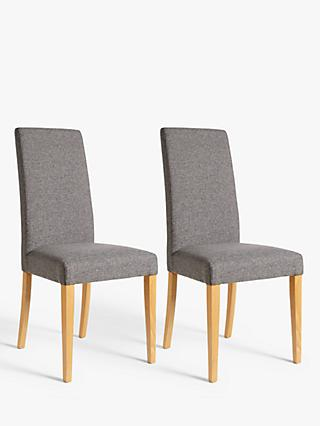 John Lewis & Partners Lydia Dining Chairs, Set of 2, FSC-Certified (Beech Wood), Grey