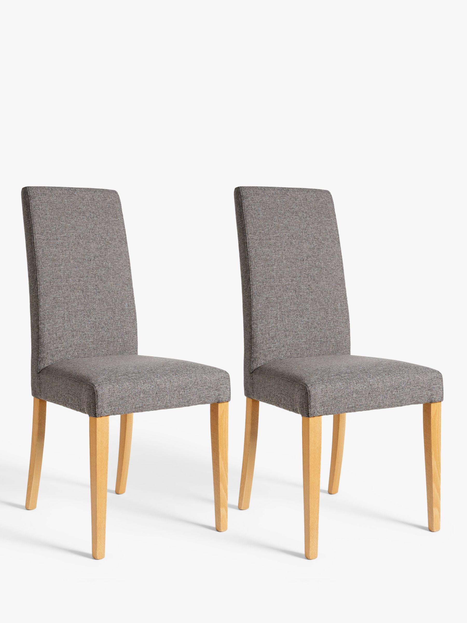 ANYDAY John Lewis & Partners Lydia Dining Chairs, Set of 2, FSC-Certified (Beech Wood), Grey