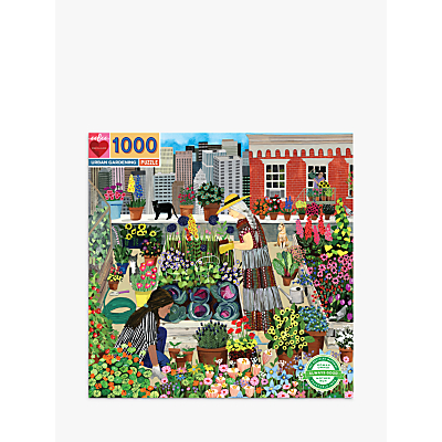 EeBoo Urban Gardening Jigsaw Puzzle, 1000 Pieces
